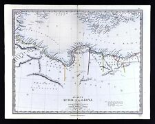 1866 SDUK Map - Ancient Libya - Tripoli Cyrenea Egypt Marmarita - North Africa