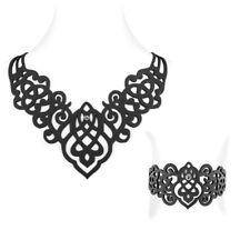 Set Necklace and Bracelet Arabesque Silicone Black effect Tattoo