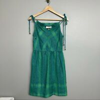 CECILIE COPENHAGEN | metallic green blue dress NEW NWT womens casual XS party