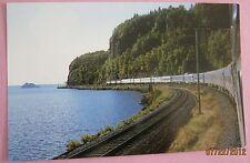 "VIA ""Canadian""  Train 1 along the shores of Lake Superior Railway Postcard"