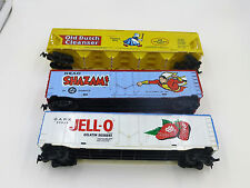 HO Scale ~ Lot of 3 ~ Billboard freight cars ~ Jello, Old Dutch, Shazam