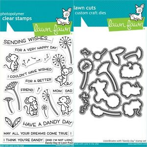 """Lawn Fawn """"DANDY DAY"""" Clear Stamps Only OR Stamp and Die Bundle 2020"""
