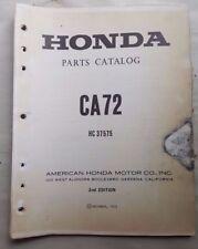 1973 HONDA  CA72 / CA 72 / OFFICIAL  FACTORY MOTORCYCLE PARTS MANUAL