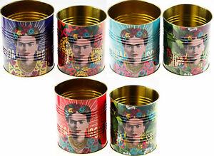 Set Of 2 Frida Kahlo Metal Storage Tins