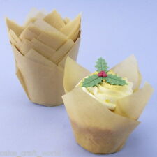 Tulip Muffin Wraps In Caramel - Pack Of 50