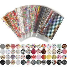 52 Sheets Mixed Flower Foil Transfer Nail Stickers Decals Art Tips Decoration