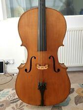 Fine Antique Cello, c1900. 4/4.  Old Cello. Will make lovely instrument.