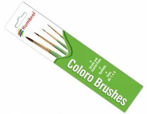 HUMBROL COLORO BRUSH PACK GENERAL PURPOSE PAINT MODEL BRUSHES 00, 1, 4, 8