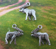 Free shipping 16pcs retro style lovely Moose alloy charm pendants 18*16mm