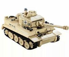 Custom WW2 Army German Panzer VI Tiger Tank WW2 II Model Brick Building Set