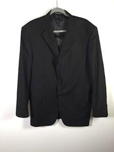 Giorgio Armani mens black 3 button suit jacket size L long sleeve