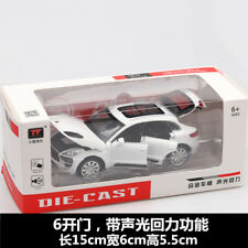 1/32 Porsche Macan SUV Collection Pull Back Car Toy W/Light&Sound White Model