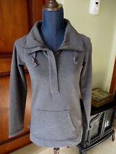 Womens Eddie Bauer Cotton Collared Grey Pullover 1/2 Zip Sweatshirt  SZ XS NWT