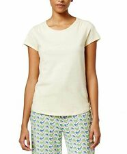 Charter Club Scoop-Neck Cotton Pajama T-Shirt French Butter Yellow X-Small