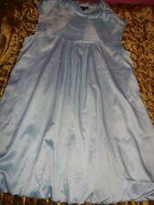 Stunning Italian Designer COTTON CLUB Pale Blue Sateen Puffball Dress 14