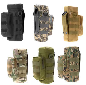 Tactical Military Molle Water Bottle Pouch Kettle Bag Holder Carrier For Outdoor