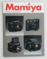 MAMIYA MEDIUM FORMAT CAMERAS INFO BOOKLET