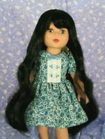 Monique  RAVEN Black Full Adj.Cap Doll Wig SZ. 12-13 Extra-Long, Straight
