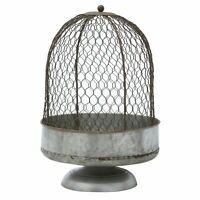Large Rustic Country Chicken Wire Farmhouse Cloche Centerpiece Display Stand