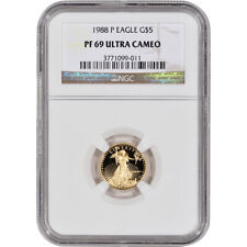 1988-P American Gold Eagle Proof (1/10 oz) $5 - NGC PF69 UCAM