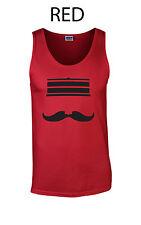294 Redleg Face Tank Top college  mustache hat cincinnati funny baseball machine
