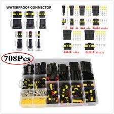 1/2/3/4/5/6Pin Way 708Pcs Kit Car Waterproof Wire Terminals Connectors W/Box