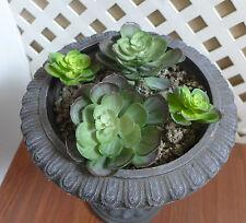 2 Big 2 Mini Snow Lotus Plastic Artificial Grass Succulents Plants