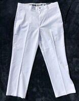 Callaway Pro Spin Golf Mens Flat Front Pant Stretch Opti-dri Size 36 x 30 White