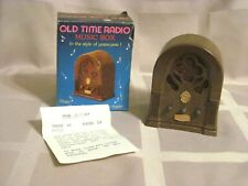 Vintage Old Time Radio Mini Music Box In Original Package Happy Days Are Here