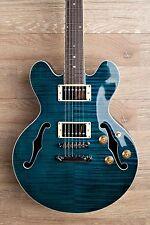 Wolf WA TM Sky Blue [ES339 Size Deeper Body] Semi Hollow Electric Guitar 2017