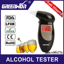 Factory Outlets +5 mouthpiece Digital LCD Backlit Display Key Chain Alcohol Test