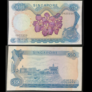 Singapore 1967-1973 50 Dollar P5a Pick 5a without seal 1st sign UNC Banknote