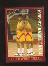 Southwest Texas State Bobcats--1996-97 Basketball Schedule--Century Telephone