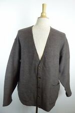 Paul Smith England BROWN WOOL V CARDIGAN SWEATER M L classic GRANDPA