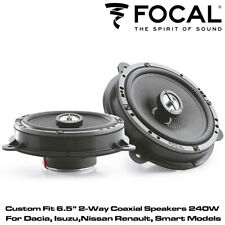 "Focal IC RNS165 - Custom Fit 6.5"" 2-Way Coaxial Speakers 240W For Dacia, Nissan"