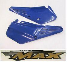 Original MAICO MX dark blue ZABEL Side Panels year 1985-1992 250 500cc