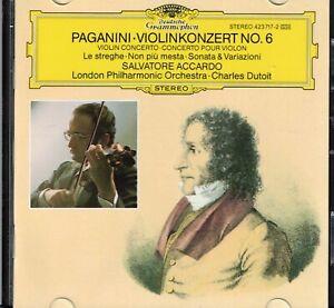 PAGANINI  VIOLINENKONZERT NO. 6, CD-Album