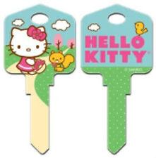 """HELLO KITTY """" SPRINGTIME """" House Key Blank Kw1 Kwikset SANRIO REVERSABLE"""