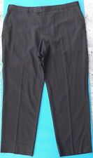 ZZEGNA Mens Flat Front Dress Pants Size 42 Dark Brown 100% Wool