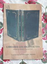 Catalogue Librairie les Argonautes  Gautrot bibliophilie livres rares