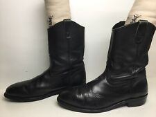 MENS UNBRANDED STEEL TOE WORK BLACK BOOTS SIZE 12 D