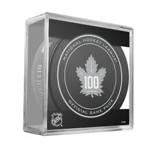 2016-17 TORONTO MAPLE LEAFS 100TH ANNIVERSARY GAME PUCK RARE