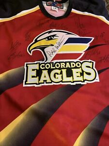 Colorado Eagles Hockey Jersey Autographed Vintage