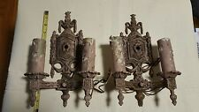 EARLY VICTORIAN DECO CAST IRON WALL SCONCE