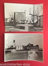2 x Presse Foto 18 cm x 13 cm um 1955 West Berlin Motorroller Automobil ( F12158