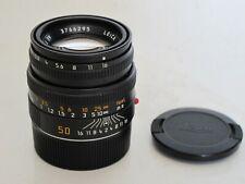 "Leica M 50mm f:2 Black Summicron lens with caps 11826 MINTY M6, M10, ""LQQK"""
