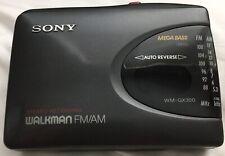 RARE Sony Walkman WM-GX300 Stereo Recording AM/FM Mega Bass Cassette Vintage