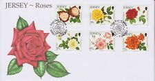 Unaddressed Jersey First Day Cover FDC 2010 Roses Set 10% off 5