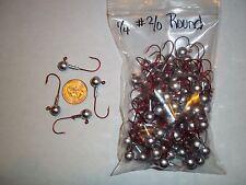 1/4oz #2/0 ROUND LEAD HEAD EAGLE CLAW - RED 100ct