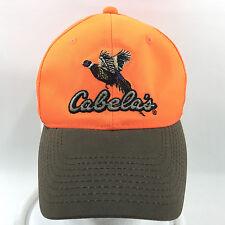 Cabelas Hunter Neon Orange Baseball Cap Hat Adjustable Snapback